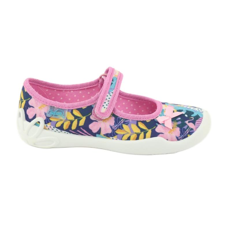Befado obuwie dziecięce 114X395 niebieskie różowe wielokolorowe