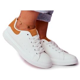 PS1 Sportowe Damskie Buty Białe z Zapiętkiem Camel Milly