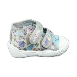Befado obuwie dziecięce 212P065 niebieskie szare