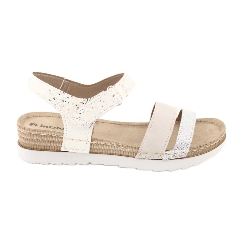 Sandały z wkładką skórzaną Inblu Argento OF019