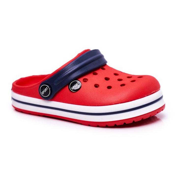 Klapki Dla Chłopca Dziewczynki Dziecięce Piankowe Kroksy Czerwone