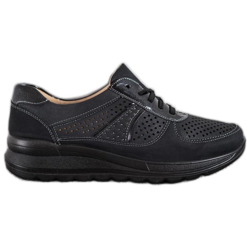 Comer Ażurowe Sneakersy Na Platformie czarne