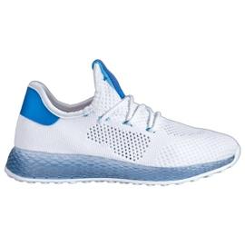 SHELOVET Białe Ażurowe Sneakersy