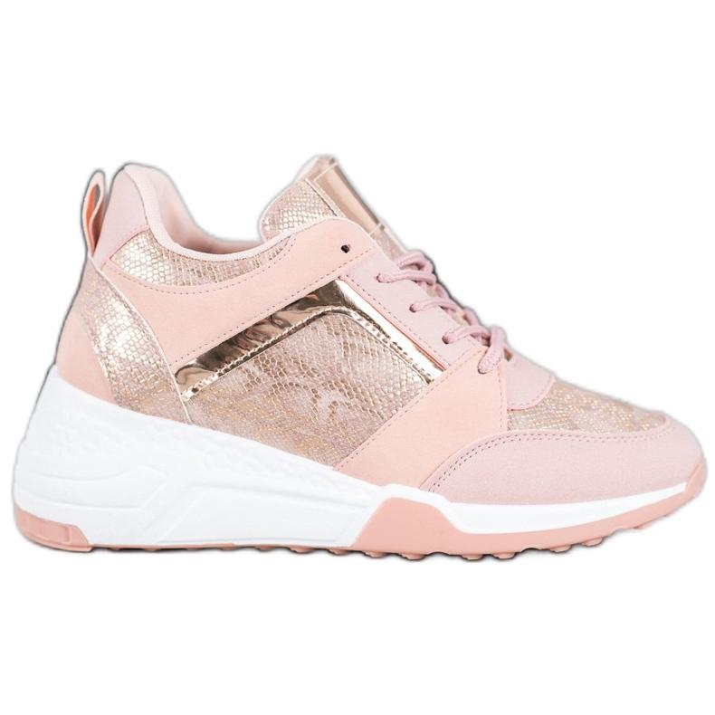 SHELOVET Sneakersy Na Koturnie
