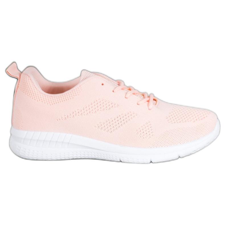 Renda Ażurowe Buty Sportowe różowe