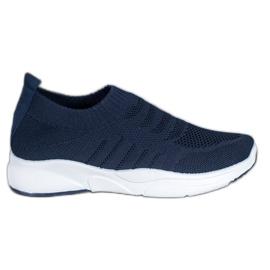 Sweet Shoes Wygodne Slipony Na Platformie niebieskie