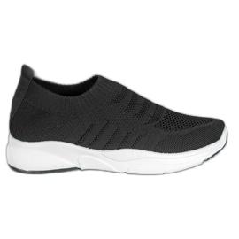 Sweet Shoes Wygodne Slipony Na Platformie czarne