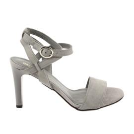 Sandały na szpilce szare Espinto S333/5