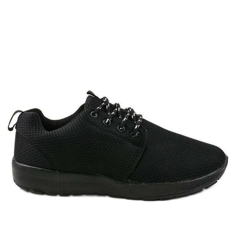 Czarne sportowe męskie obuwie MN15-2