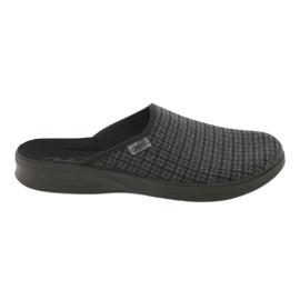 Befado obuwie męskie pu 548M012 czarne szare