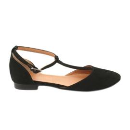 Sandały damskie czarne pięta/palce Angello 2236