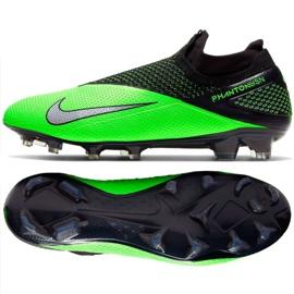 Buty piłkkarskie Nike Phantom Vsn 2 Elite Df Fg M CD4161 036 zielone wielokolorowe