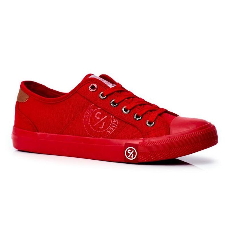 Trampki Męskie Cross Jeans Czerwone FF1R4056C
