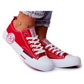 Trampki Damskie Cross Jeans Czerwone FF2R4074C