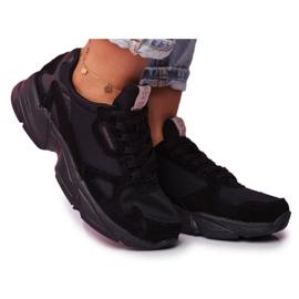 Sportowe Damskie Buty Cross Jeans Czarne FF2R4138C