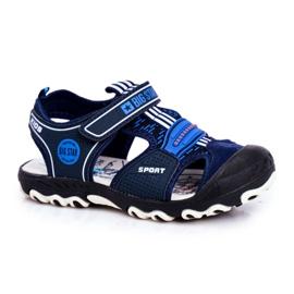 Sandałki Dziecięce Big Star Na Rzepy Granatowe FF374211 niebieskie