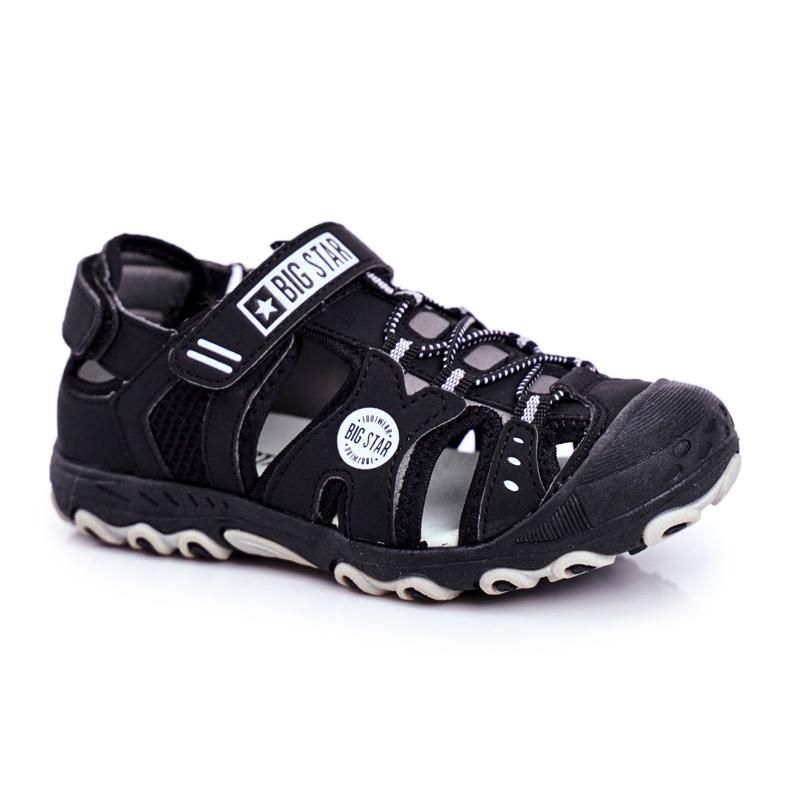 Sandałki Dziecięce Big Star Na Rzepy Czarne FF374210