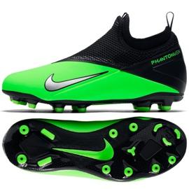 Buty piłkarskie Nike Phantom Vsn 2 Academy Df Fg /MG Jr CD4059 306 wielokolorowe zielone