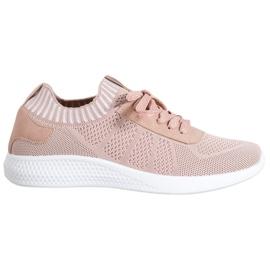 SHELOVET Pudrowe Buty Sportowe różowe