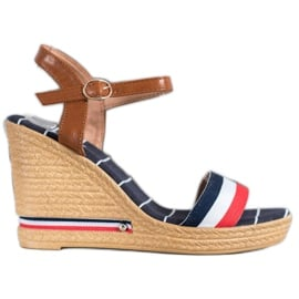 Yes Mile Sandały Z Kolorowymi Paskami wielokolorowe