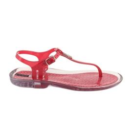 Sandały japonki Grendha Clear/red bezbarwne czerwone