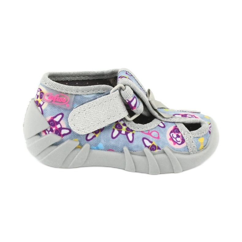 Befado obuwie dziecięce 190P093 szare wielokolorowe