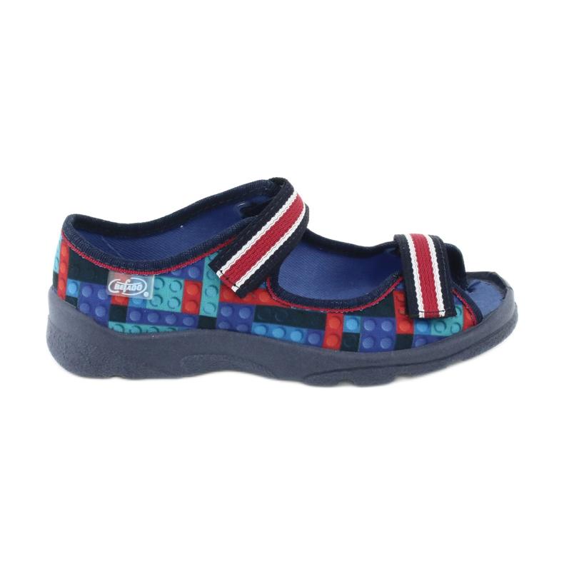 Befado obuwie dziecięce  969X153 czerwone granatowe niebieskie