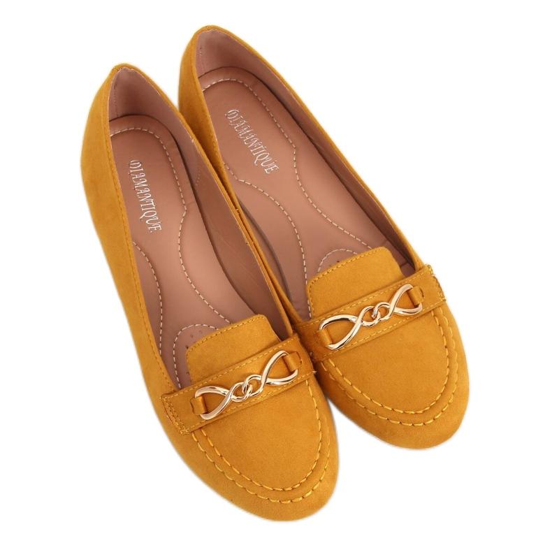 Mokasyny damskie miodowe 2S2018-157 Yellow żółte