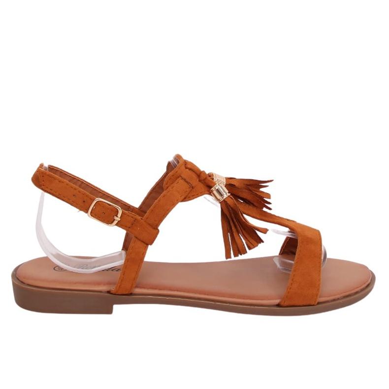 Sandałki damskie camel 222-30 Camel brązowe