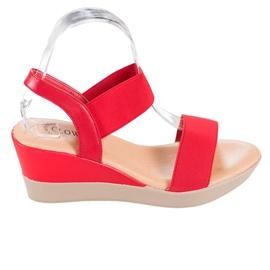 Clowse Lekkie Wsuwane Sandały czerwone