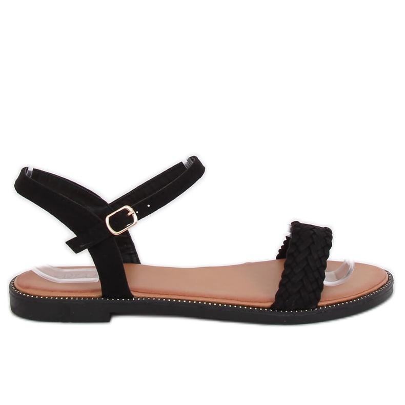 Sandałki damskie czarne WL061 Black