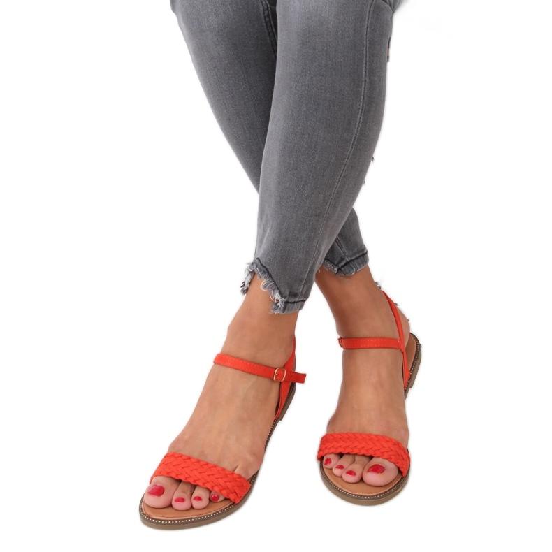 Sandałki damskie pomarańczowe WL061 Orange