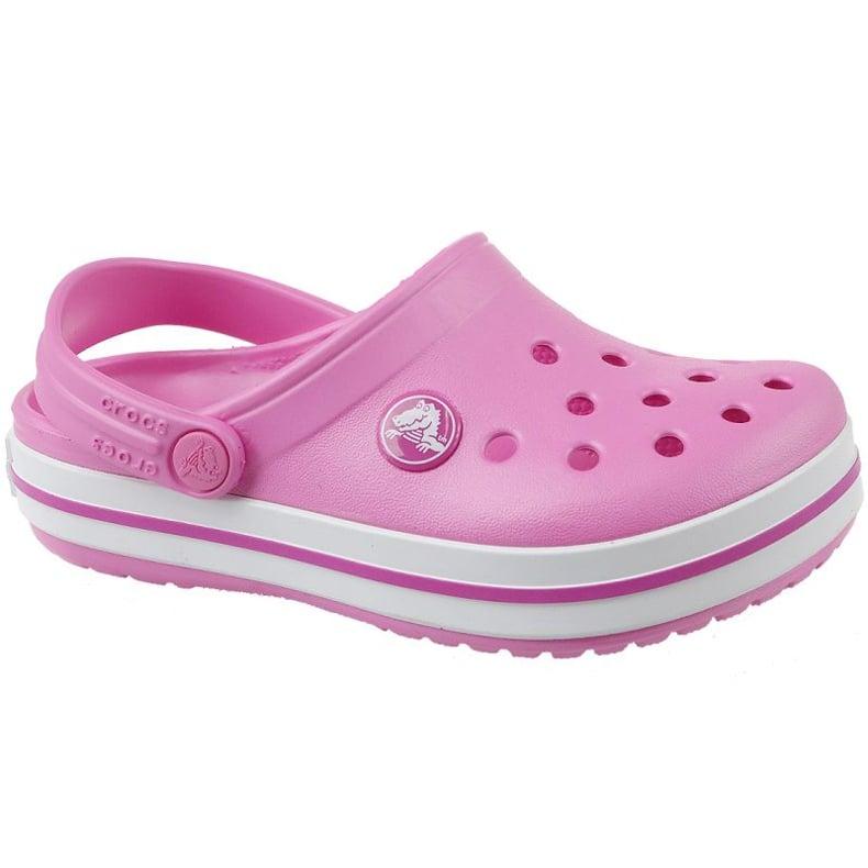 Klapki Crocs Crocband Clog Jr 204537-6U9 różowe