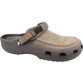 Klapki Crocs Yukon Vista Clog M 205177-22Z brązowe