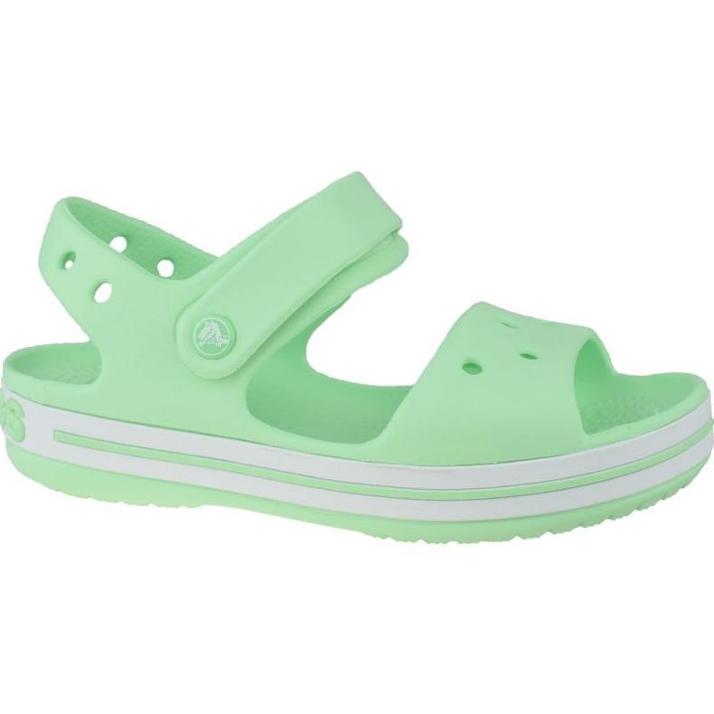 Sandały Crocs Crocband Jr 12856-3TI zielone