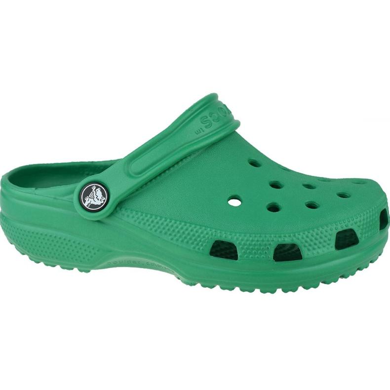 Klapki Crocs Crocband Clog K Jr 204536-3TJ zielone