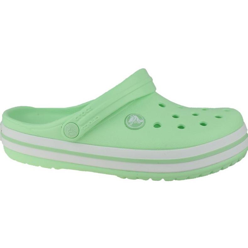Klapki Crocs Crocband Clog K Jr 204537-3TI zielone