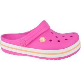Klapki Crocs Crocband Clog K Jr 204537-6QZ różowe szare