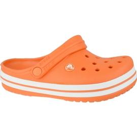 Klapki Crocs Crocband Clog K Jr 204537-810 pomarańczowe szare