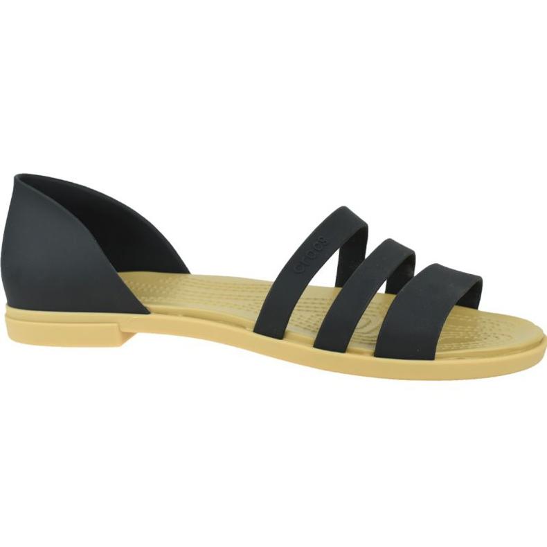 Sandały Crocs Tulum Open Flat W 206109-00W czarne