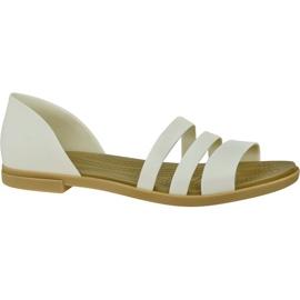 Sandały Crocs Tulum Open Flat W 206109-1CQ białe
