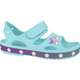 Sandały Crocs Fun Lab Unicorn Charm Sandal K 206366-4O9 niebieskie