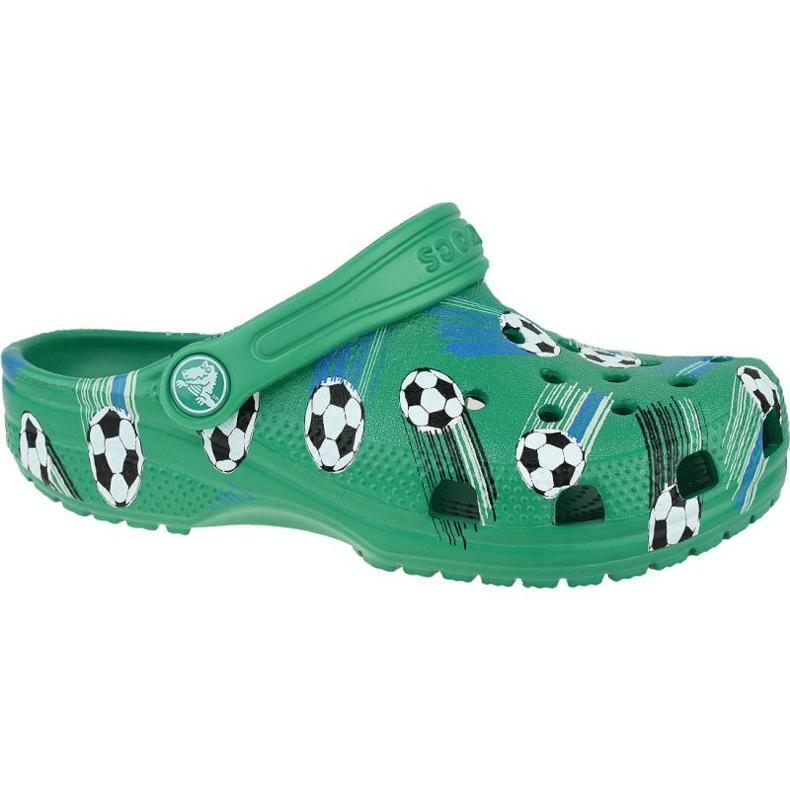Klapki Crocs Classic Sport Ball Clog Ps Jr 206417-3TJ zielone