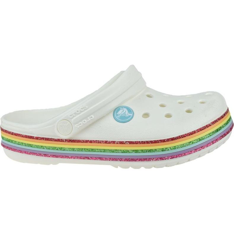Klapki Crocs Rainbow Glitter Clog 206151-100 białe