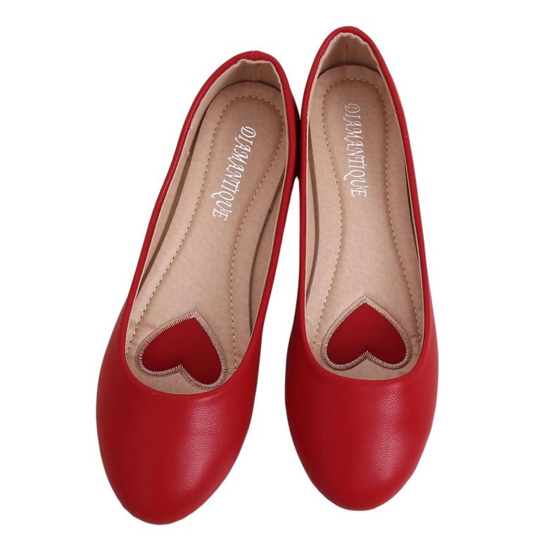 Baleriny damskie czerwone YSD817 Red