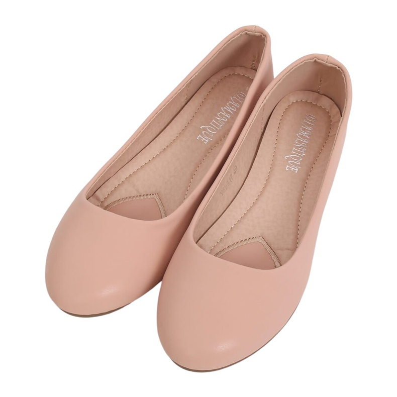 Baleriny damskie różowe YSD817 Nude