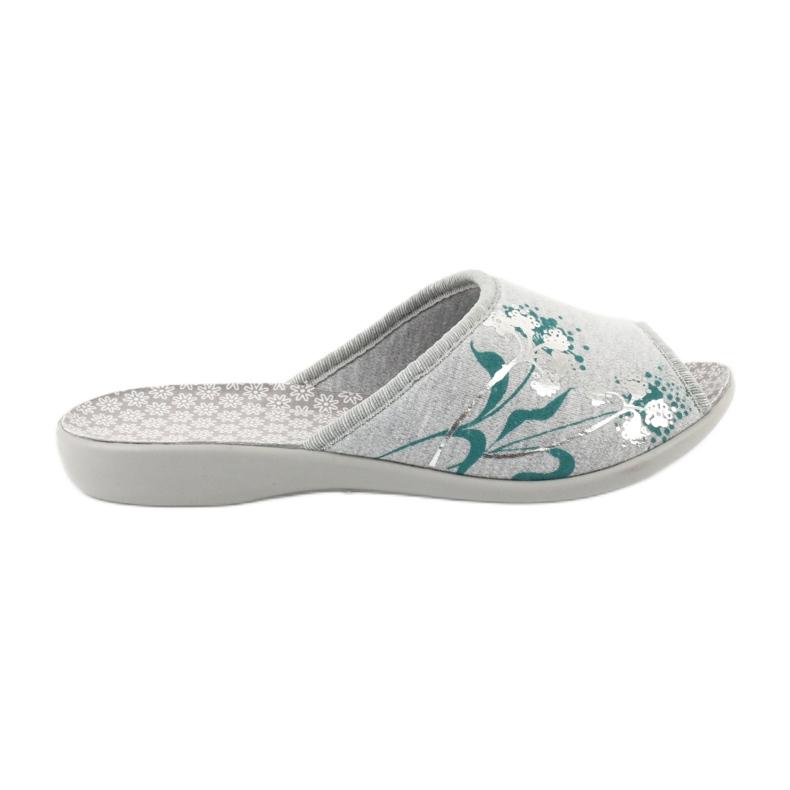 Befado obuwie damskie pu 254D100 szare zielone