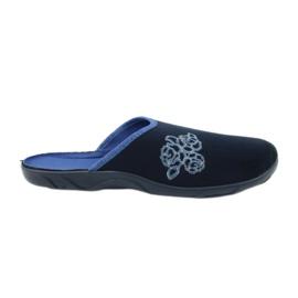 Befado kolorowe obuwie damskie pu 235D157 granatowe niebieskie