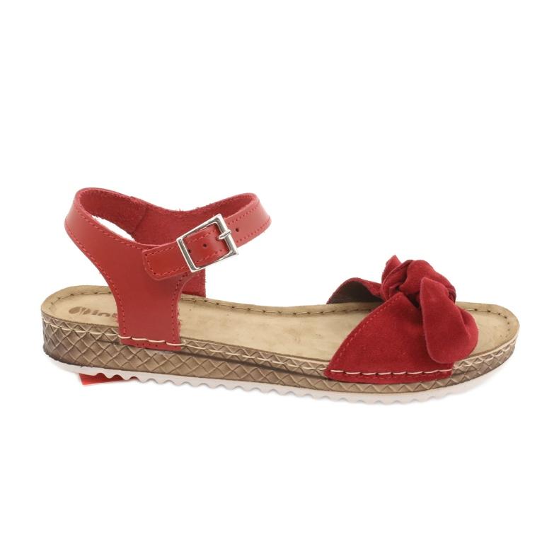 Comfort Inblu obuwie damskie 158D117 czerwone