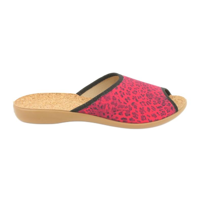 Befado obuwie damskie pu 254D112 czerwone